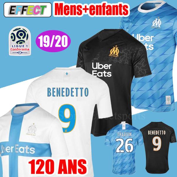 2020 Olympique de Marseille Camisetas de fútbol BENEDETTO 2019 Camiseta de fútbol PAYET L.GUSTAVO THAUVIN 19 20 Local Blanco Visitante Tercera camiseta de fútbol