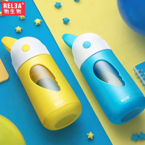 Crianças de alta qualidade parede dupla Shatter garrafa resistente com garrafa de vidro resistente Silicone Straw Calor resistentes a estilhaços BPA