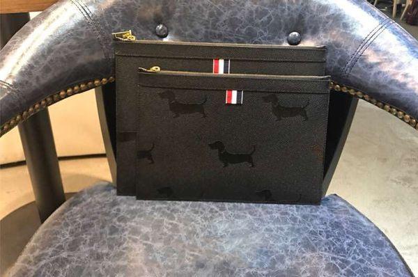 2019 novos homens bolsa de moda designer de moda bolsa de estilo americano tendência moda frente animal offset decoração pode ser colocado tablet