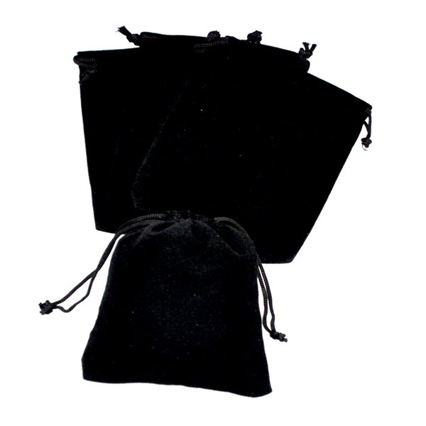 Hot Sale 50pcs/lot 7x9cm Black Velvet Bags Small Jewelry Charms Packaging Bags Wedding Decoration Drawstring Gift Bag Pouches