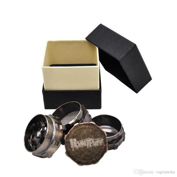 4 Part Dia.45mm Heavy Zinc Alloy Herb Grinder Gear Spice Tobacco Grinder Smoking Crusher Hand Muller