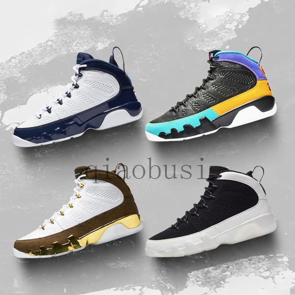 Space Jam Kalite 9 Siyah Yılan derisi Spirit Antrasit Sneakers Bred 2019 Yüksek 9s Basketbol ayakkabı erkekler Rüya It Do It UNC