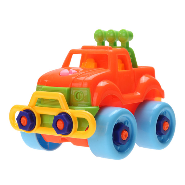 toy vehicle Plastic Baby Cars Model Building Kits Kids Detachable Assembly Cars Truck Toys Children Handwork Training Toy Vehicles Assemble
