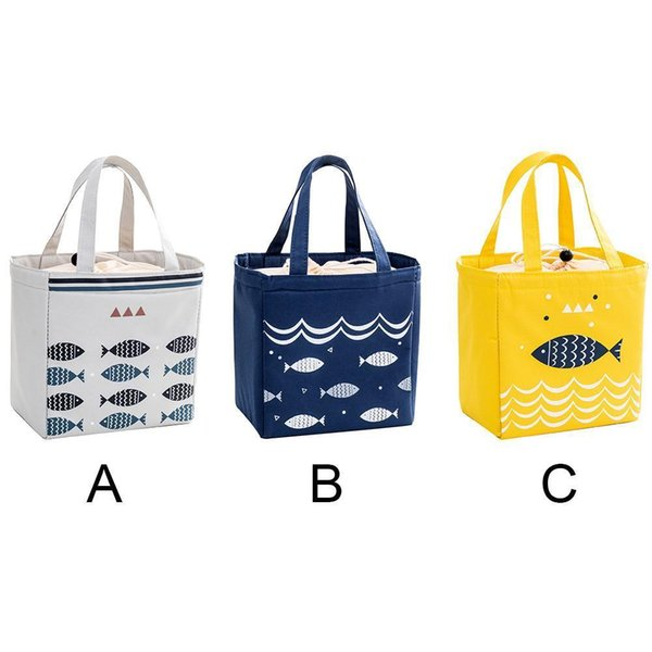 Picnic Storage Bag Insulated Bento Lunch Box bag Picnic Container Thermal Cooler Tote Storage Canvas Box Bag Drop Shipping D19010902