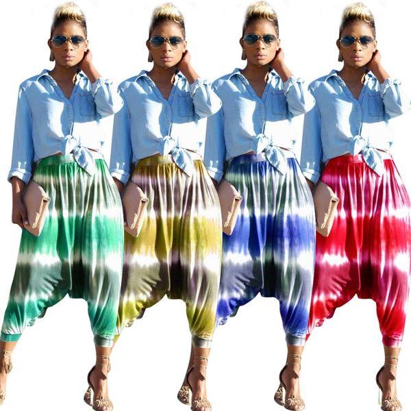 Womens designer harem pants soltas leggings menina capris calças verão boate impressão sweatpants calças confortáveis ativos hot klw0686