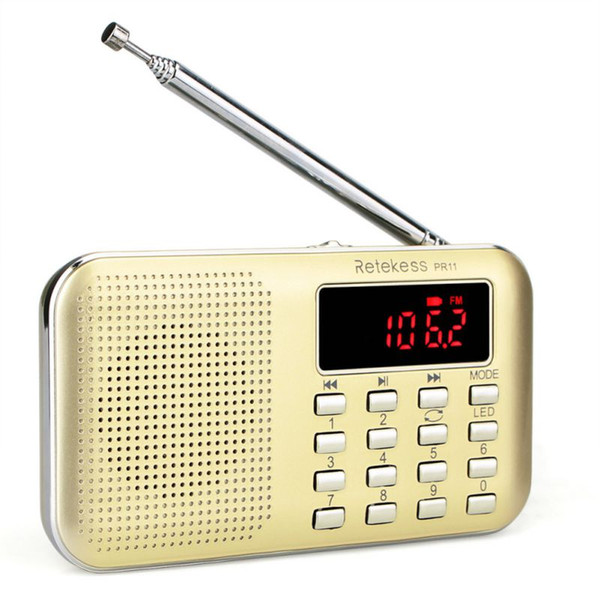 Tragbarer AUX-Eingang AM / FM-Radio TF-Karte / USB-Flash-Laufwerk Wiederaufladbarer MP3-Musik-Player