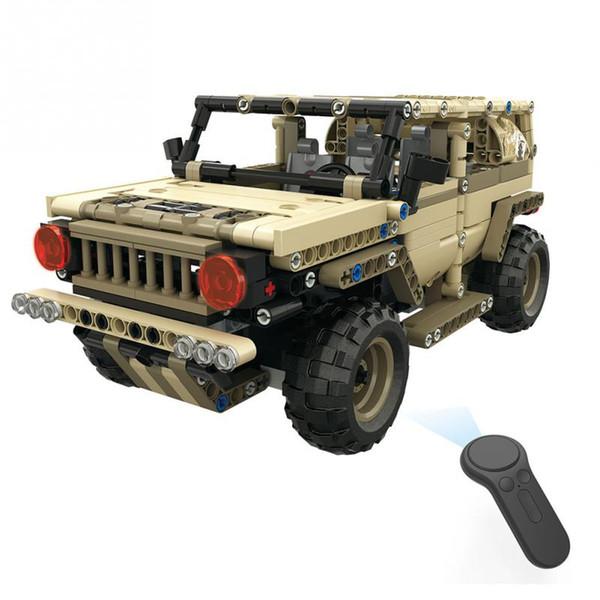 Neue RC Military Car Truck DIY Set Montieren 4WD Off Road Auto Spielzeug 2,4 GHz Fernbedienung Autos Modell Spielzeug Für Kinder Geburtstagsgeschenk