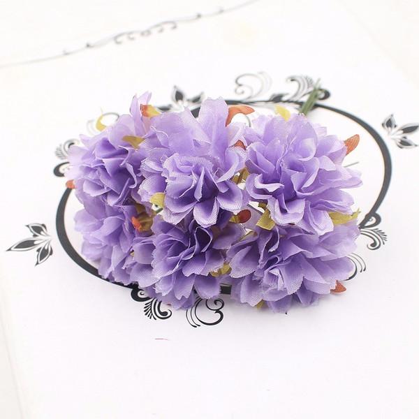 60pcs Daisy Carnation Artificial Flower For Wedding Decoration Garland Cloth Apparel Sewing Needlework Art DIY Craft Supplies