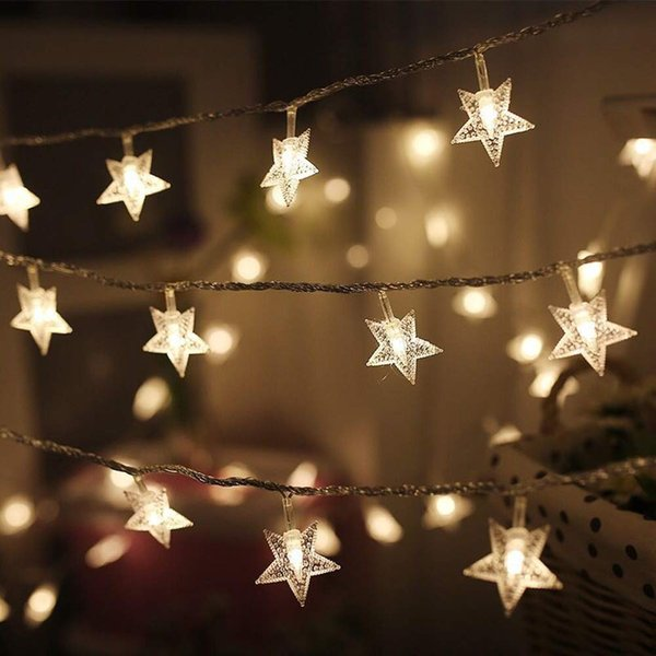 Twinkle Star 100 LED 49 FT Star String Lights, Plug in Fairy String Lights Waterproof, Extendable for Indoor, Outdoor Christmas Tree
