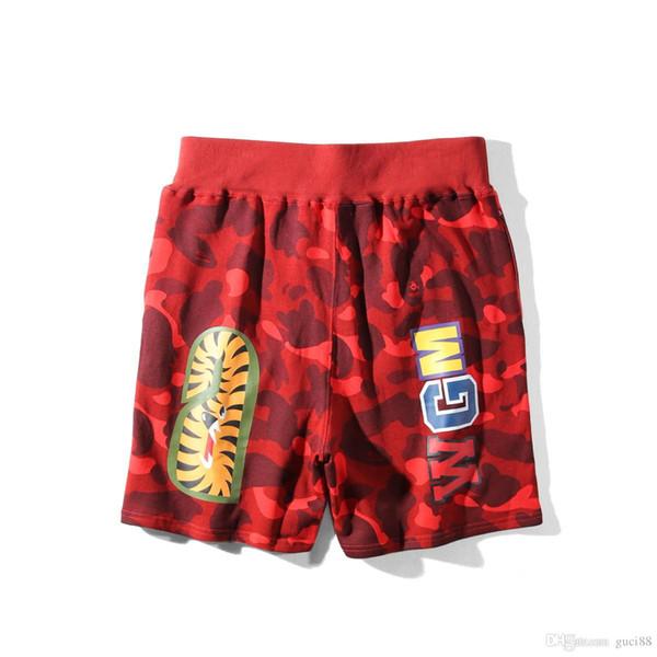 Neue Ape Shark Shorts AApe Japan Shark Jaw Camo Designer Hosen Apes Head Pants White Herren Shorts ein Badeanzug Frau Frau Sommer Dolce