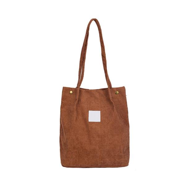 Women Shoulder Bags Corduroy Handbag Large Tote Purse Travel Messenger Hobo Bag MSJ99