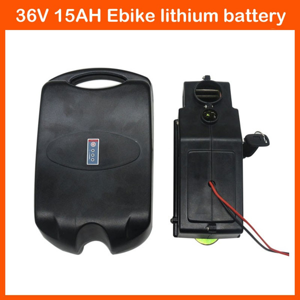 Rechargeable 36V 500W Electric Bike battery 36V 15AH Lithium Battery pack Ebike akku with 15A BMS 42V 2A charger Free shipping