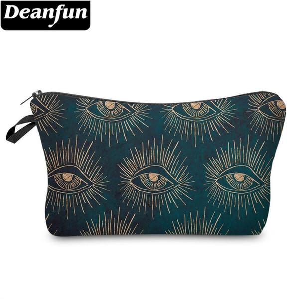 Deanfun Fashion Printing Eyes Roomy Cosmetic Bag Make Up Bag Women Cosmetic Bags Makeup Bags Organizer Cute Gift 51348