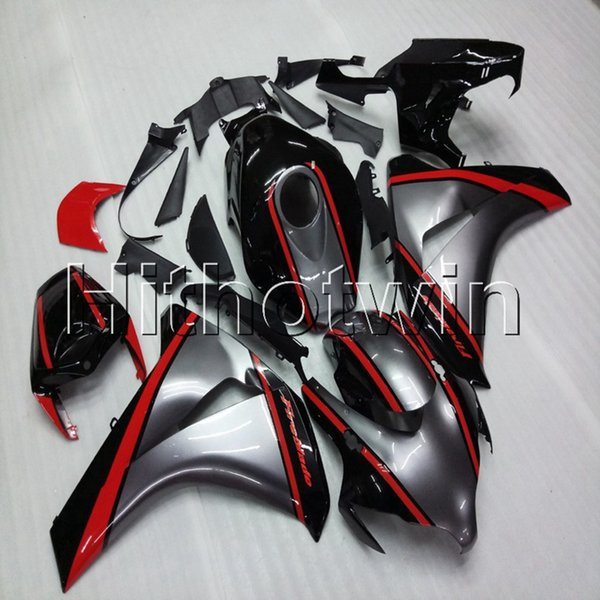 23colors + Botls Moldeo por inyección Silvergray casco de carenado para HONDA CBR1000RR 2008 2009 2010 2011 plástico ABS Carenado