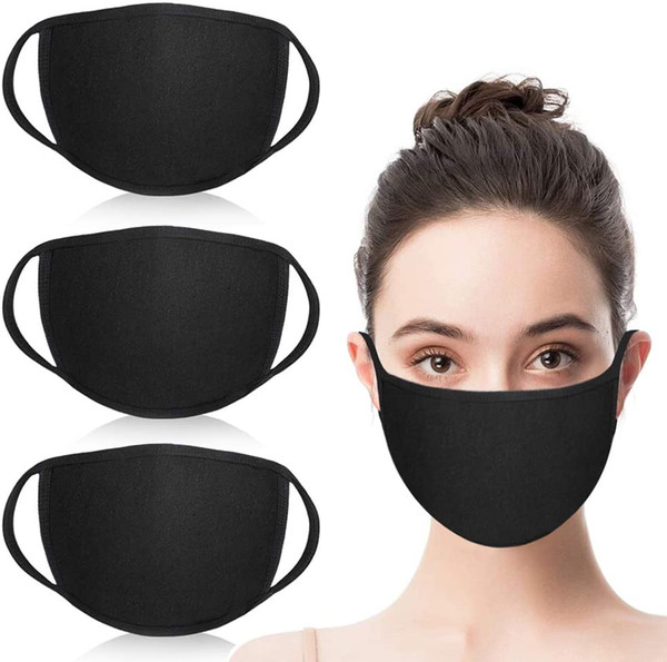 top popular Unisex Fashion Mouth Mask Washable Reusable Cloth Masks Anti Dust Warm Ski Cycling Black Cotton Face Mask for Cycling Camping Travel 2020