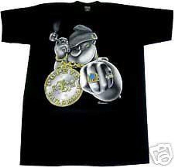 POPEYE АКА SAILORMAN ж / шику футболка 2XL XXL XXXL высокое качество пользовательских печатных топы Hipster тройники футболка