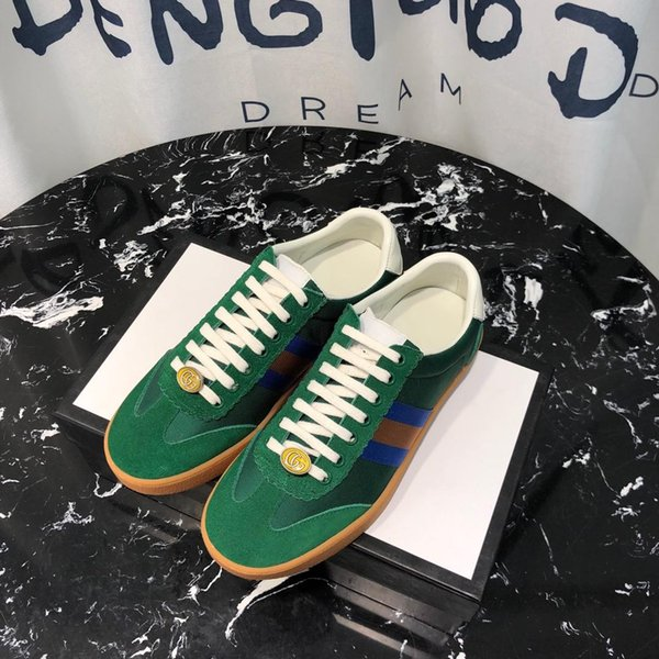 2019k neue Limited Edition Top Designer Mode wild Low Cut Freizeitschuhe hochwertige Paar Schuhe Mode wilde Sportschuhe, Größe: 35-45