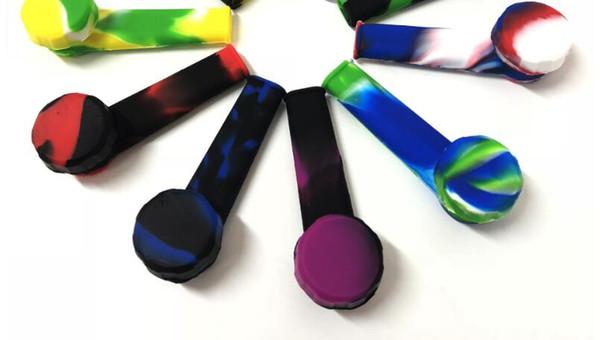 Quatre pouces pipe Creative silicone Pipes main tabac Pyrex coloré mignon Bong For Smoking pipe à eau