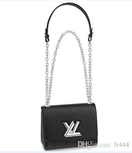 Damen Designer Luxus Handtasche LVLV Umhängetasche Geldbörsen Metallic Authentic Epi Leder Handtaschen Umhängetaschen TWIST PM M505