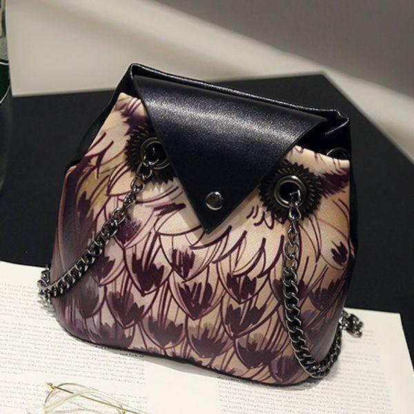 1pc 2019 Owl New Arrivals Dream 2018 Brand Women Shoulder Bag Soft PU Leather Crossbody Bag Cartoon Owl Chain Messenger Ladies Small Handba