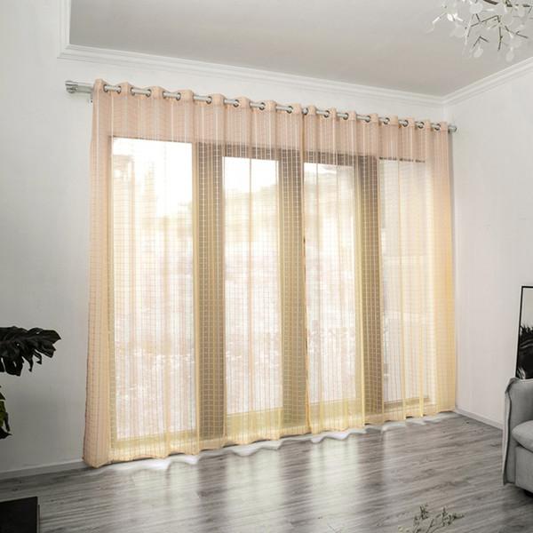 Tende A Finestra.Acquista 2019 Nai Yue Tende Finestra Di Moda Tinta Unita Foglie Tenda Trasparente Tulle Window Treatment Voile Drape Valance 1 Pannello Tessuto A