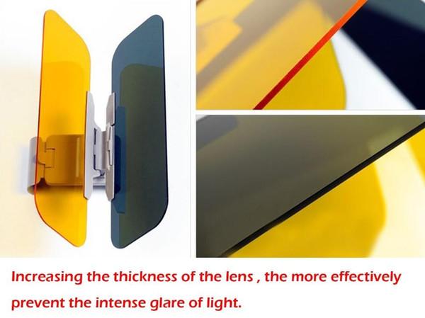 2 en 1 HD Gafas de visera para el coche para el conductor Día Noche Antideslumbrante Espejo Viseras para el sol Vista clara del automóvil Gafas deslumbrantes
