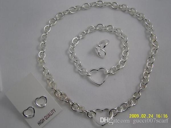 2019 nuovi gioielli donna collana e bracciale in argento 925 + confezione regalo confezione originale