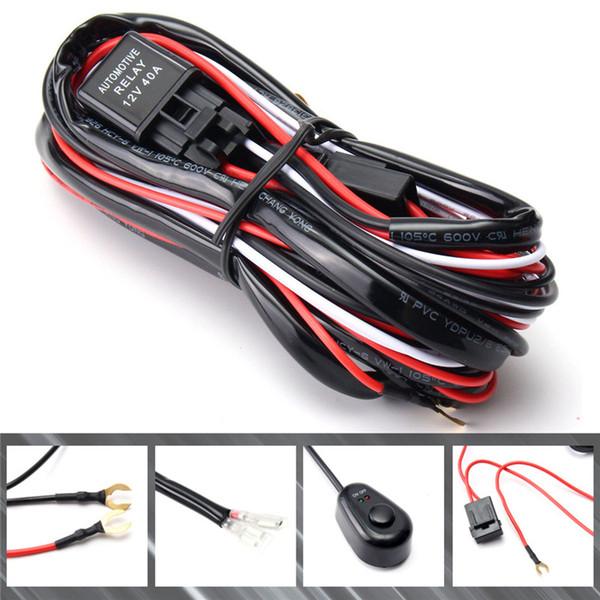 car wiring harness kits 2020 2 5m 40a dc12v car universal accessories fog light wiring  m 40a dc12v car universal accessories