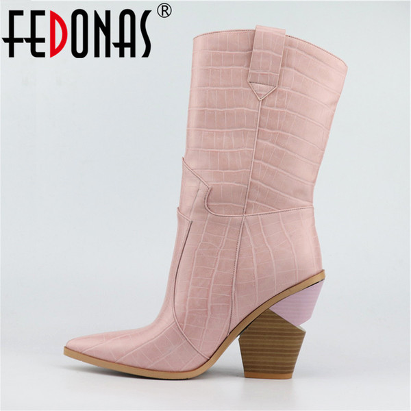 Damen Boots | Frauen Stiefel Wadenhohe Stiefel | Schuhe