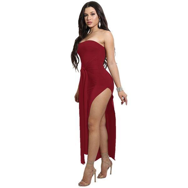 2019 новая популярная мода eacy Spot летние женские сексуальные обвязанные грудью платья галстуки внешней торговли взрывоопасных ночной магазин юбки