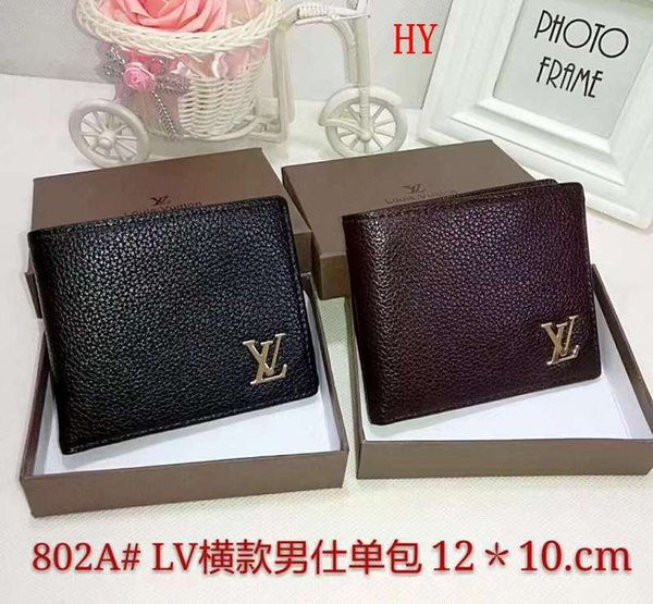 2019 popular designers top men's classic fashion clutch bag luxurys holder classic card package