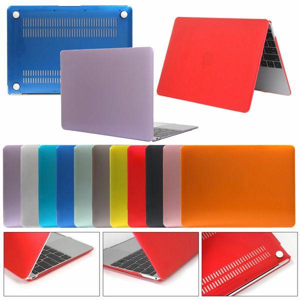 Givré mat dur pour MacBook air pro rétine 11 12 13 pouces à l'avant Dos complet portable Body Shell Case Cover A1369 A1466 A1708 A1465