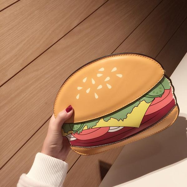 Borsa donna all'ingrosso 2019 versione coreana della nuova serie alimentare patatine fritte hamburger popcorn spalla catena diagonale pacchetto piccolo marea