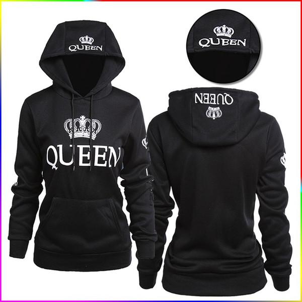 QUEEN KING printed hooded long-sleeved lovers sweater Men's Hoodies women Sweatshirts clothes winter lovers wear Clothing 269
