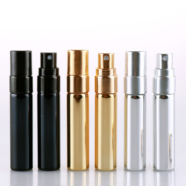 5ML Colorful Empty Glass Spray Bottles Refillable Portable Mini Sample Perfume Bottle Atomizer Cosmetic Contaier DHL Fast Delivery
