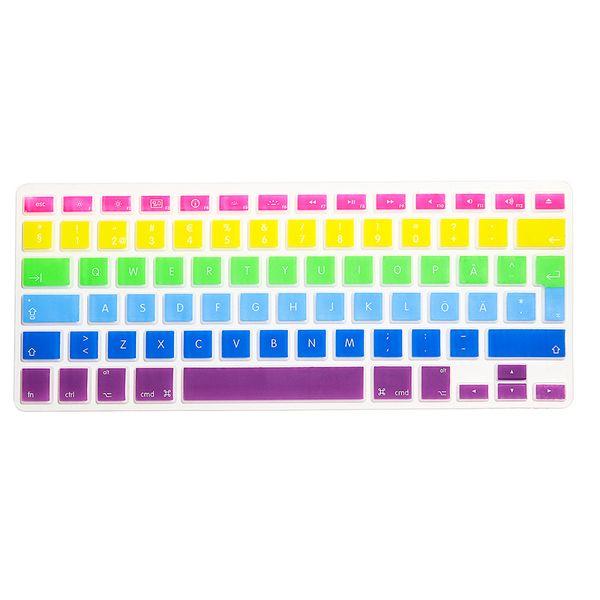 HRH Ultra-thin Rainbow Waterproof EU Swedish Silicone Keyboard Cover Skin Protector For Macbook Air Pro Retina 13 15 17 Inch