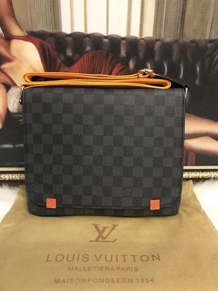 Siyah mavi turuncu yeni varış Klasik moda Erkekler messenger çanta çapraz vücut çanta okul bookbag gerektiği 41213v0