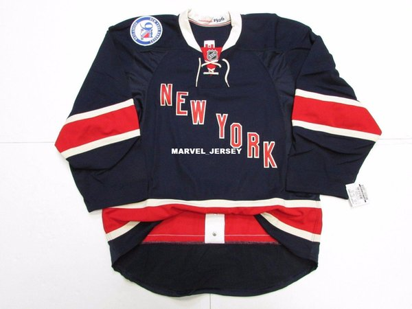 Cheap custom NEW YORK RANGERS TERZO 90 ° ANNIVERSARIO TEAM RILASCIATO MAGLIA punto aggiungere qualsiasi numero qualsiasi nome Mens Hockey Jersey XS-5XL