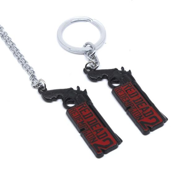 Red Dead Redemption modelo de arma chaveiro personalizado novidade pingente chaveiros portachiavi Acessórios jóias presente