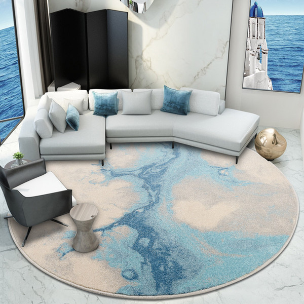 Nordic Round Carpet Living Room Large Round Bedroom Carpet Computer Chair  Rug Cloakroom Floor Mat Sofa Coffee Table Rugs Flooring Over Carpet Shaw ...