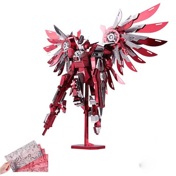 2017 Mais Novo Puzzles De Metal 3D De Asas Trovejantes 7 Estrelas Dificuldade 3D Modelo de Metal Kits DIY Presentes Engraçados para Crianças Brinquedos Rosa Enchanter