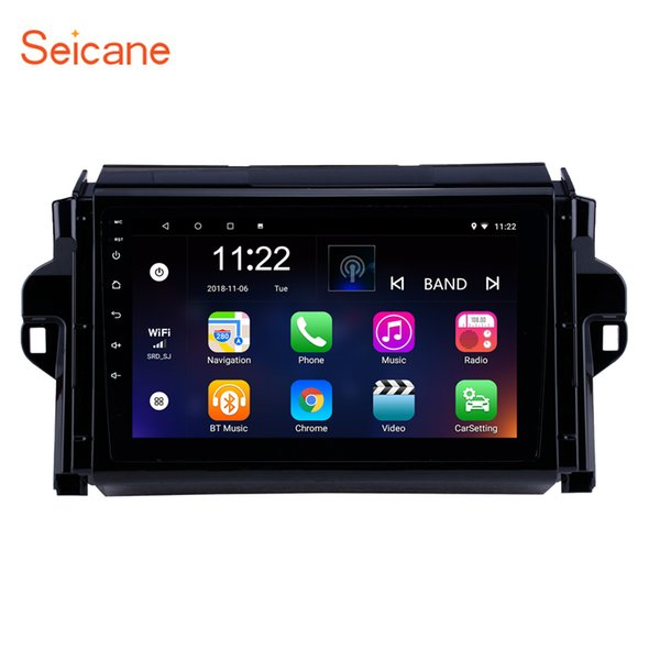 HD Touch Screen 9 inch Android 8.1 GPS Navi Car autoradio2015-2018 TOYOTA FORTUNER/ COVEwith Bluetooth support Digital TV 3G Rearview Camera