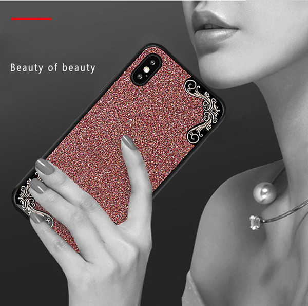 Luxe Effacer TPU Housse en silicone pour iPhone 6 7 8 X XR XS MAX Placage côté Drill Cell Phone Cover