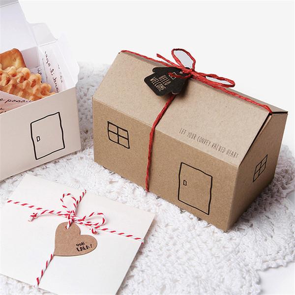 Caixa de presente Bonito Caixas De Biscoitos De Bolos De Doces Bolo De Papel De Cozimento Caixa de Papel De Embrulho De Casamento Festa de Aniversário Casa CT0190