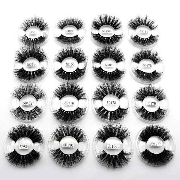 5D Eyelashes 25mm Natural Big Eye lashes Long Thick Individual Handmade Natural Lashes Extension 12 Styles for Eyes Makeup