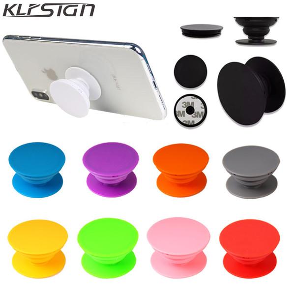 Support de téléphone portable coloré universel avec sac d'opp Real 3M colle tenir le support de doigt 360 degrés doigt flexible pour iPhone Samsung