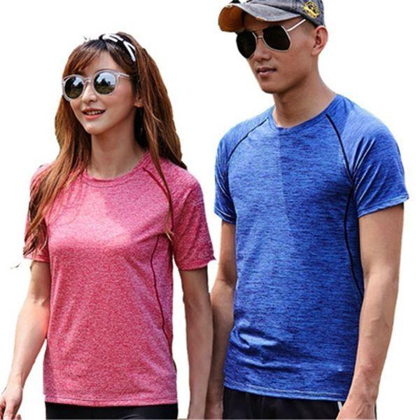Asiatique Japon Hommes Femmes Unisexe Bleu Pourpre À Séchage Rapide T-shirts D'été Casual Sport Respirant Polyester Élastique Mince Tees Tops