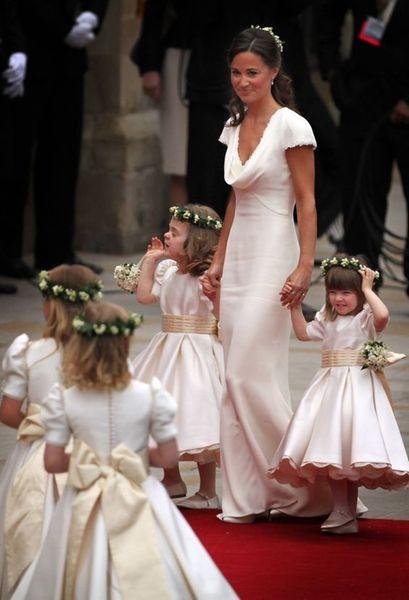 Simple O-Neck Stain Short Sleeve Flower Girl Dresses For Wedding Pageant Dresses For Little Girls Evening Gowns
