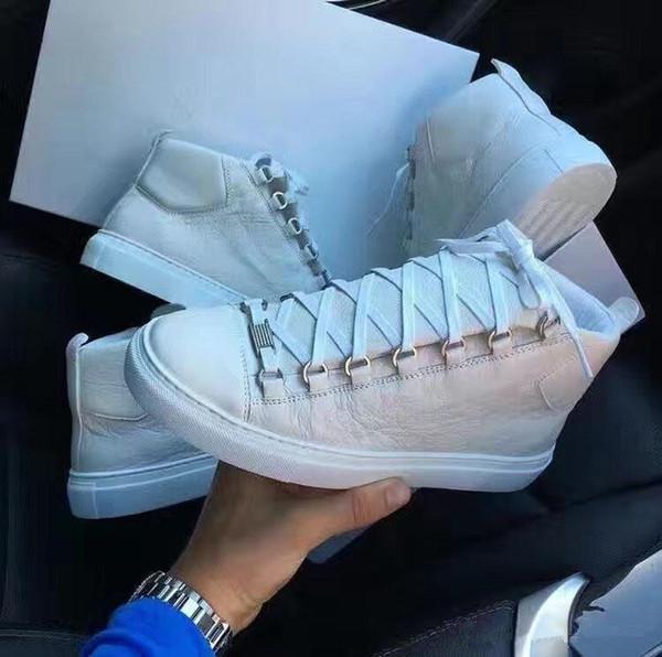 Высокое качество Arena кроссовки из натуральной кожи дизайнер обуви, открытый Kanye Wes