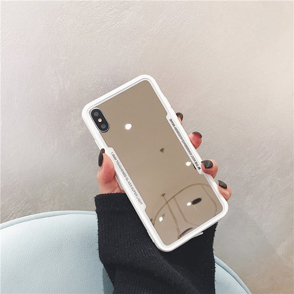 Hot selling Luxury Mirror Silicone Case for iphone 7 8 6 6S Plus X xr XS MAX Bling Bling Plating Soft TPU Drop proof Cover A019